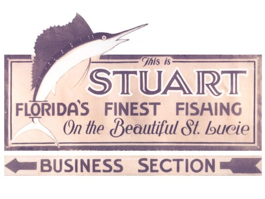 Stuart Sign entering the city in the 1920s.