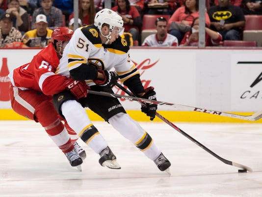 USP NHL: PRESEASON-BOSTON BRUINS AT DETROIT RED WI S HKN USA MI