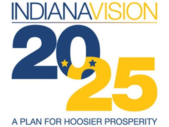 Indiana Vision 2025 logo.