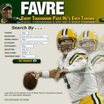 Brett Favre Touchdown Database