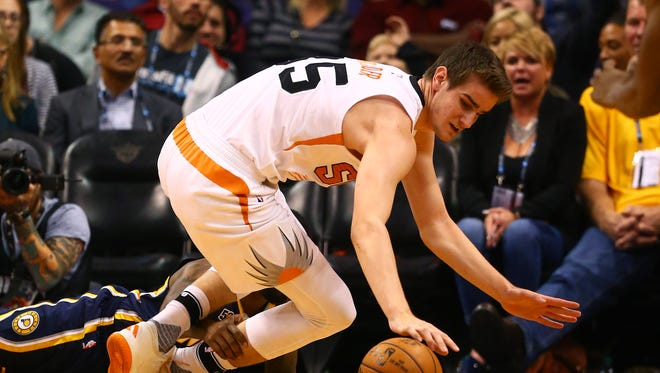 Phoenix Suns forward Dragan Bender could see his rookie season cut short because of an ankle injury.