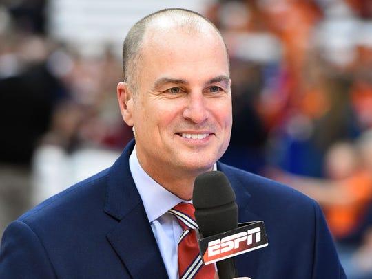 ESPN college basketball analyst Jay Bilas was scheduled
