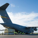 The 45th Space Wing on Oct. 8 received the last of 12 Global Positioning System IIF satellites, delivered by an Air Force C-17 Globemaster III aircraft to Cape Canaveral Air Force Station's Skid Strip. The satellite is expected to launch early next year.
