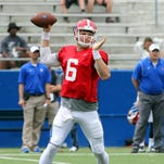 Louisiana Tech quarterback Jeff Driskel led a scoring drive in the final seconds to lead the Blue team to a win in Saturday's spring game.