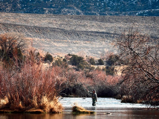 The San Juan River is pictured near Navajo Dam in December 2015. The Farmington City Council will discuss water resources during its work session on Tuesday.