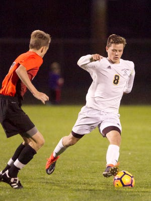 Brady Walker of Hartland had two goals and one assist in a 4-0 victory over Salem.