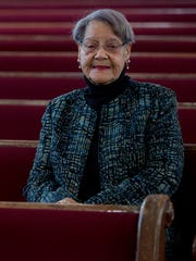 Longtime Dexter Avenue King Memorial Baptist Church member Viola Jordan at the church in Montgomery, Ala., on Wednesday February 1, 2017.