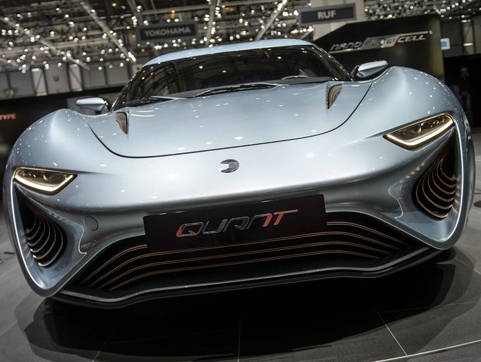 The 2014 Geneva Motor Show runs March 6-16 in Switzerland. The Quant Nanoflowcell electric car is on display.