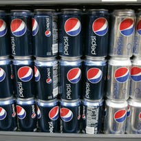 FILE - In this Feb. 9, 2009 file photo, Pepsi drinks are on display at JJ&F Market in Palo Alto, Calif. PepsiCo says it?s dropping aspartame from Diet Pepsi in response to customer feedback and replacing it with sucralose, another artificial sweetener commonly known as Splenda. The decision to swap sweeteners comes as Americans keep turning away from popular diet sodas. Coca-Cola said this week of April 20, 2015, that sales volume for Diet Coke fell 5 percent in North America in the first three months of the year.(AP Photo/Paul Sakuma)