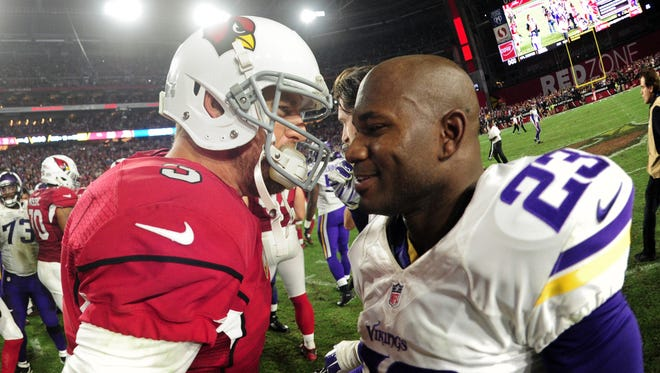 The Cardinals and Vikings have an important game Sunday in Minnesota.