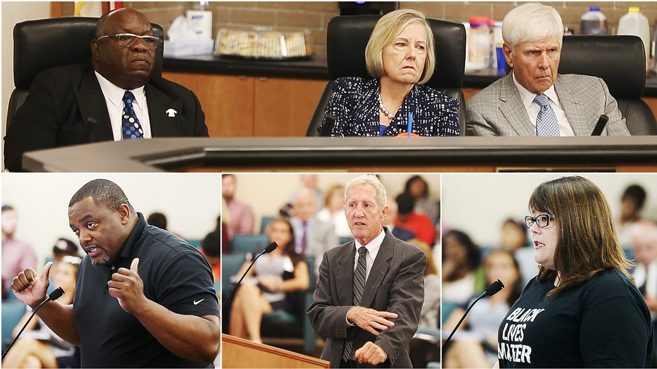 Fort Myers residents question the city council on Monday about the dumping of toxic sludge in the Dunbar of Fort Myers.