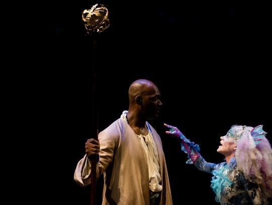 Esau Pritchett as the sorcerer Prospero and Erin Chupinsky