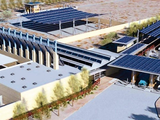 Courtesy art   Here is an artist rendering of what the Columbus Port of Entry renovation project could look like when completed.