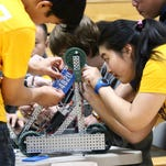 Student-built robots compete at Shasta High School