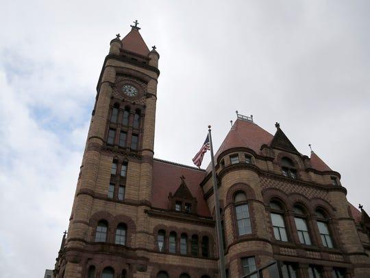 Cincinnati City Hall in downtown Cincinnati on Tuesday, Jan. 23, 2018.