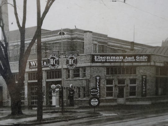 Circa 1930s photo of what is now known as Downtown Auto Service at the corner of Walnut and Madison streets in Green Bay.