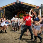 Rumba Buena performs at the Congo Square Stage during the New Orleans Jazz and Heritage Festival on Sunday in New Orleans.
