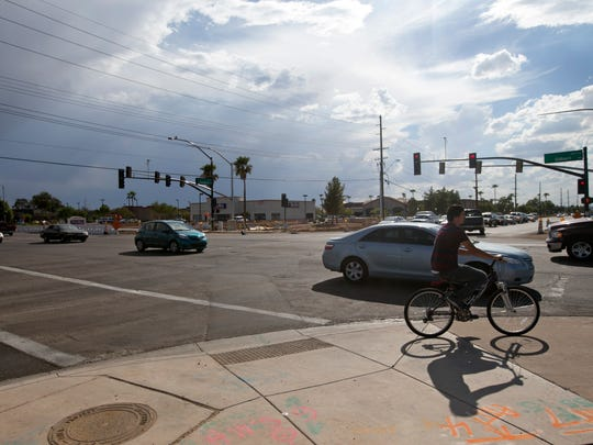 The intersection of Gilbert Road and Guadalupe Road in Gilbert on Thursday, September 4, 2014.