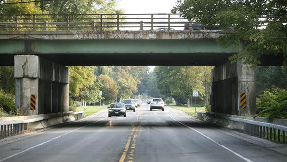 The 490 bridge over Marsh Road in Pittsford N.Y. on