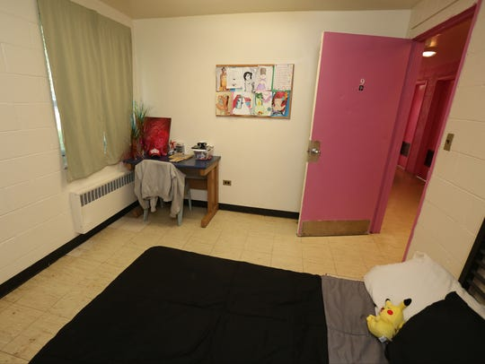 A bedroom in the Senior Girls unit at the Hawthorne