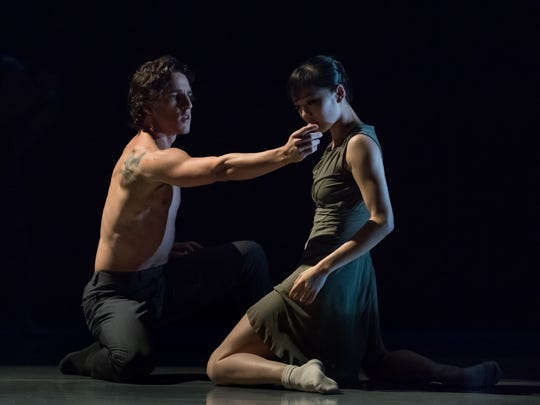 """Principal dancers Cervilio Miguel Amador (left) and Sirui Liu seen in """"The Resistance,"""" a section of choreographer Travis Wall's """"Then ... Now."""""""