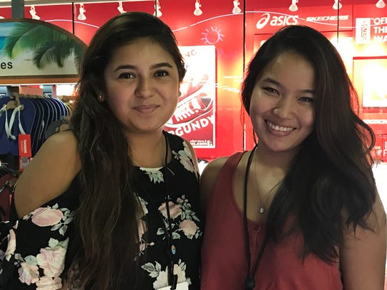From left, Hannah Toves and Genica Pham.