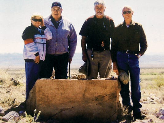 Maria Romero, from left, Anthony Romero, Gary Shirk and Terry Humble recently visited Fort Cumming's Cemetery as part of the Westerner Corral No. 36 field trip. Courtesy Photo