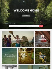 The website Airbnb.com facilitates short-term room rentals in private residences.