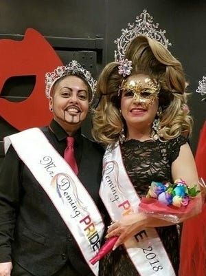 Deming Pride held its sixth annual Crowns and Sashes Royalty Pageant on Saturday and selected Axyl D'Angelo Steel, left, and Canela D'Angelo Steele as Mr. and Miss Deming Pride 2018. The two pageant winners will travel and represent Deming Pride at LGBT events in New Mexico and neighboring states.
