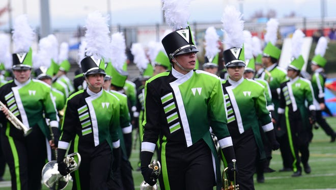 West Salem performs during the NWAPA Marching Band Championships at Hillsboro Stadium on Saturday, Nov. 1, 2014.