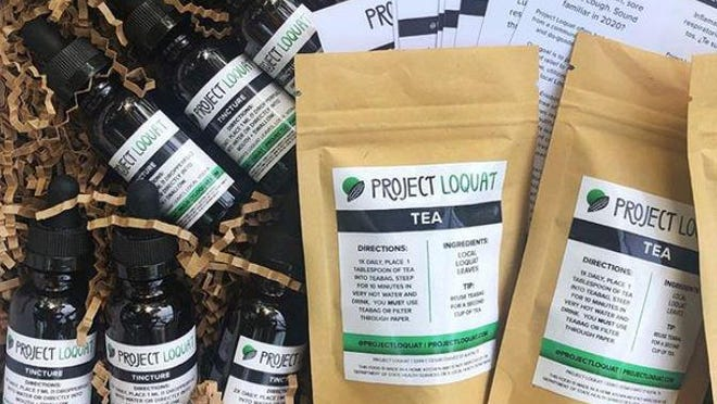 Project Loquat is a free community project from Austinite Maria Gotay, who started making a tisane and a tincture from foraged loquat leaves earlier this year.