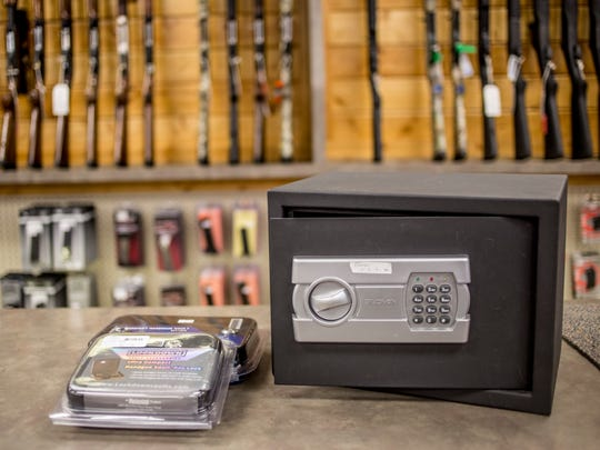 A gun safe and other locks available at VF Sports, 4136 Lapeer Road in Port Huron Township.