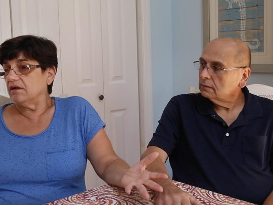 Amalia and Ralph DeNisco explain the continued battle they are having with a contractor as they try to get their home repaired in the Mystic Island section of Little Egg Harbor.