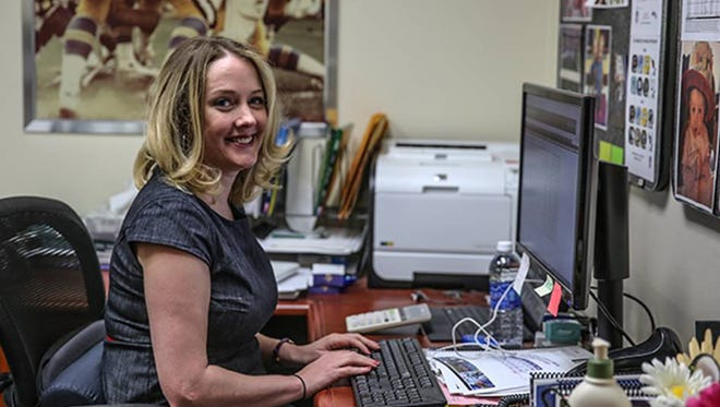 Anne Doepner, a 2001 St. Benedict graduate, was recently promoted to become the Minnesota Vikings director of football administration. The St. Paul native has been with the team since 2006.