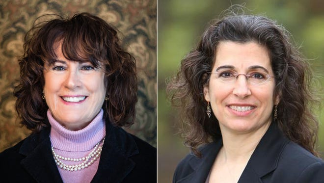 Republican Sally Siegrist, left, and Democrat Vicky Woeste are running for the Indiana House District 26 seat.