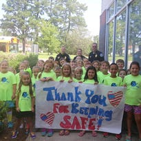 Lowe's employees dropped by the Springfield Police Department to drop off bottled water for officers on Wednesday.