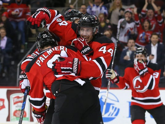 USP NHL: CALGARY FLAMES AT NEW JERSEY DEVILS S HKN NJD CGY USA NJ