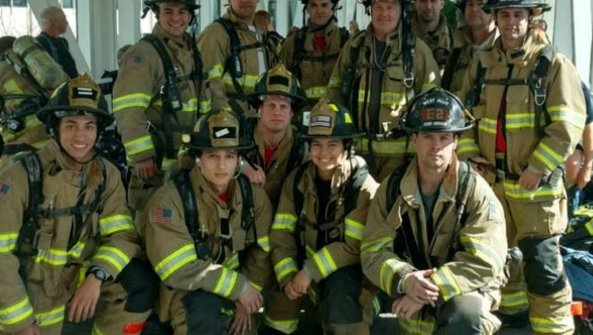 The West Allis Fire Department Fight for Air team finished third among 45 fire departments in the race for the top of the US Bank building, a fundraiser for the American Lung Association.