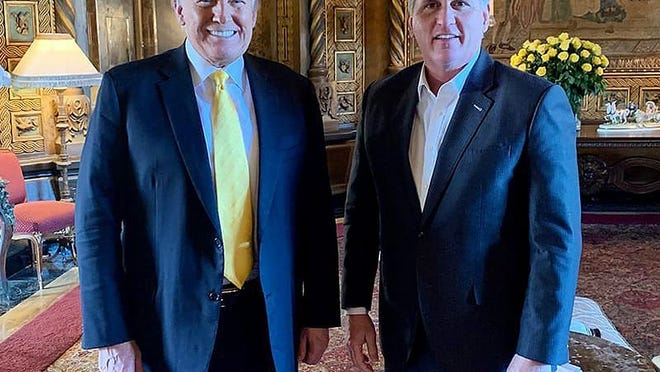 Former President Donald Trump and Rep. Kevin McCarthy
