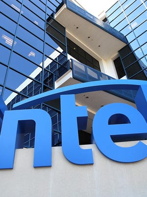 File photo taken in 2011 shows Intel sign outside the computer chipmaker giant's California headquarters.