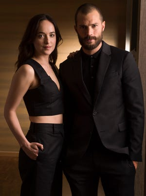 "DCB Select - 2/3/17 4:17:54 PM -- Los Angeles, CA: Portrait of  Dakota Johnson and Jamie Dornan stars of ""Fifty Shades Darker"" the sequel to box office hit ""Fifty Shades of Grey."" Photo by Robert Hanashiro, USA TODAY Staff ORG XMIT:  RH 135997 JOHNSON+DORNAN 02/03/ [Via MerlinFTP Drop]"