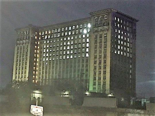 Lights were on Wednesday night inside the Michigan