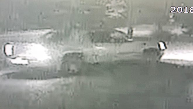 A white truck (pictured here) hit and killed a 34-year-old man around 12:30 Monday morning.