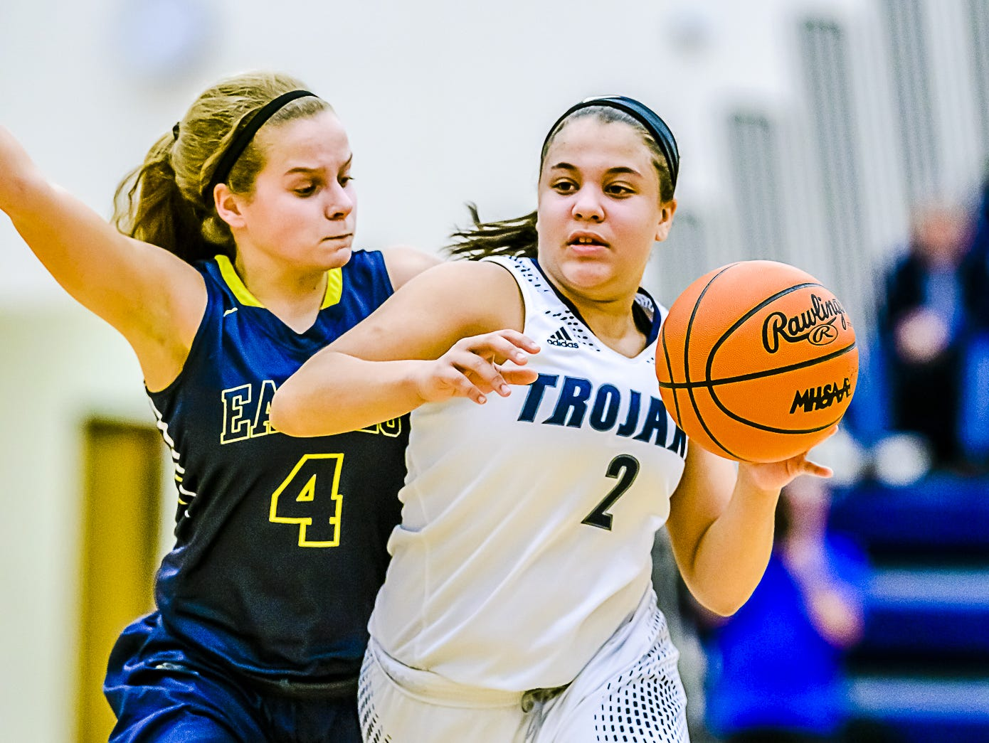 Amelia McNutt, 2, was one of Friday's top girls basketball performers.
