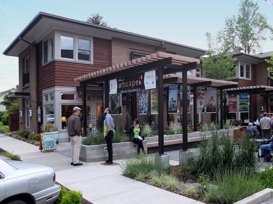 "Francis Court received an Excellence in Downtown Revitalization Award for the ""Best New Building Project"" in a historic downtown from Oregon Main Street on September 15 during the Oregon Main Street Evening of Excellence Celebration in Astoria."