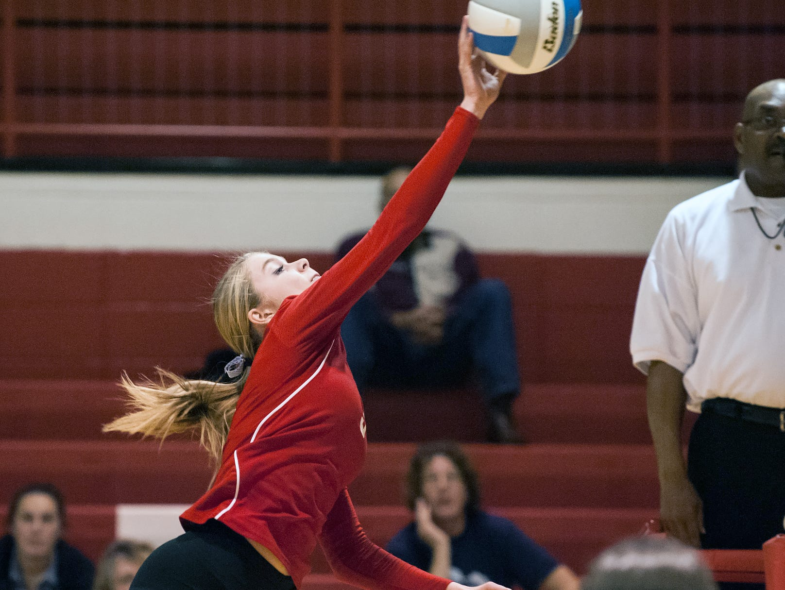 St. Philip's Abby McKinzie in game action Tuesday night.