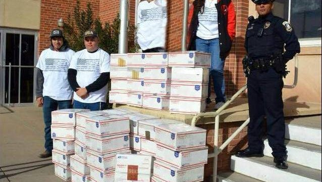 Last year's care packaged to U.S. troops abroad made it to the front steps of the Deming U.S. Post Office. The packages were shipped to servicemen and women around the world just in time for the holiday season. This year's goal is to send off 75 care packages, via Operation Secret Santa.