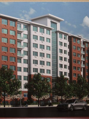 A rendering of Ginsburg Development Cos.' Yonkers rental units, River Tides.