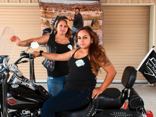 """From left are Aundrea and Britney Pena, sisters of the later Ramon """"Momo"""" Pena III. Britney is a Deming Police officer and has served the department for the past six years. Aundrea works for Central Dispatch, directing emergency first responders and law enforcement in Deming and Luna County."""
