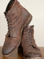 Stylemaker Davis Jolly's shoes: Frye brown leather